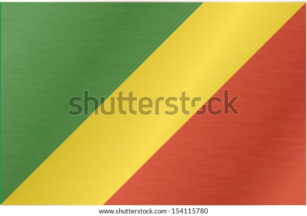 Congolese flag blowing in the wind. Part of a series.