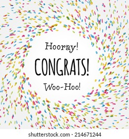 Congrats card graphic design