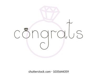 Congrats congratulation for wedding day. Married.