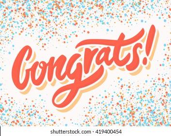 Congrats! Congratulations banner.