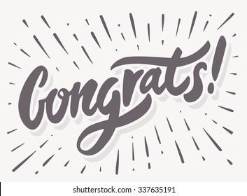 Congrats! Congratulations card.