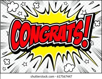 Congrats. Congratulations card,vector illustration