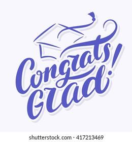 Congrats Grad! Congratulations Graduate banner.