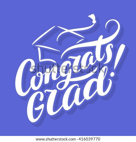 congrats grad congratulations graduate banner stock vector royalty