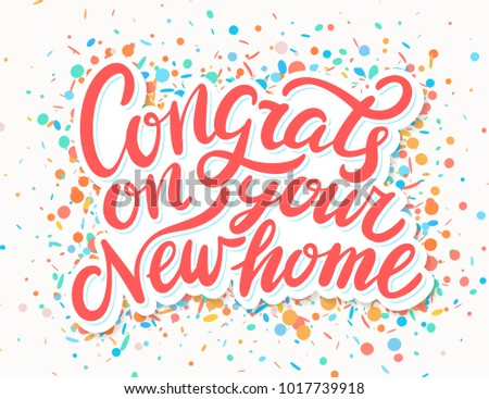 Congrats On Your New Home Stock Vector Royalty Free 1017739918
