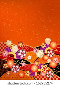 A congratulately Japanese style background of Japan