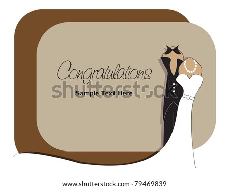 congratulation bride and groom elegant design