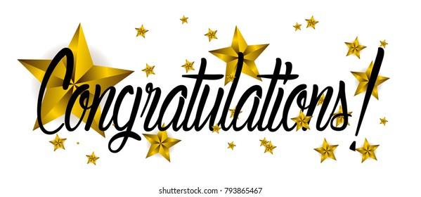 congratulations, beautiful greeting card wth star