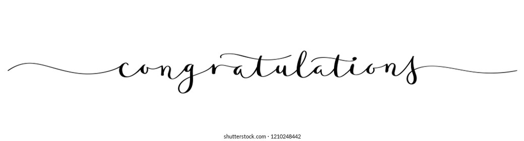 CONGRATULATIONS brush calligraphy banner