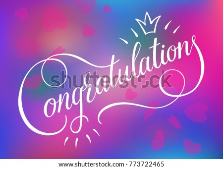 Congratulations Card Banner Poster Sign Template Stock Vector ...