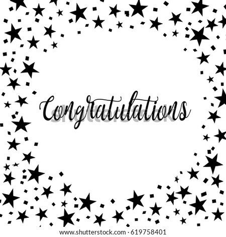 Congratulations Card Greeting Cards Template Stock Vector Royalty