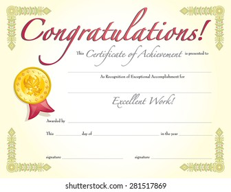 congratulations certificate images stock photos vectors