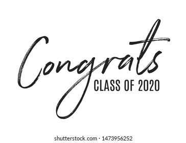 Congratulations Class of 2020 Vector Text Icon Background Illustration