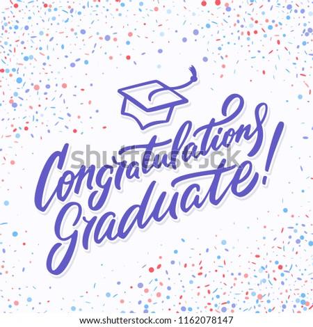 congratulations graduate banner stock vector royalty free