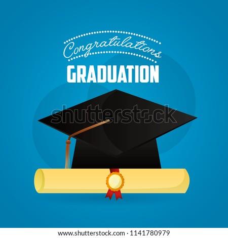 Congratulations Graduation Card Stock Vector Royalty Free