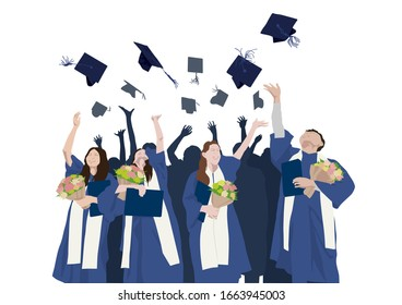 Congratulations Graduation on illustration graphic vector
