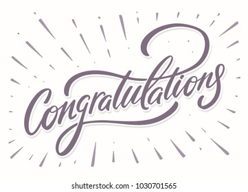 Congratulations. Greeting card.