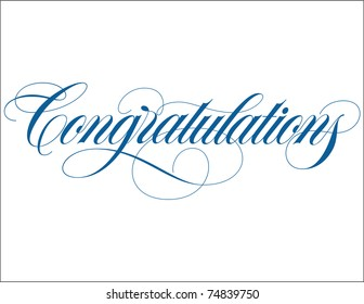 Congratulations Hand Lettering