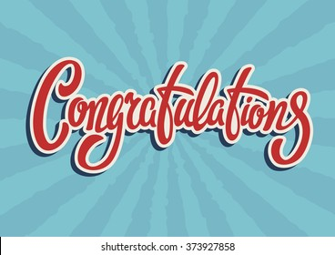 Congratulations lettering text