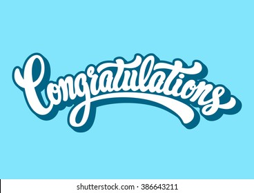 Congratulations lettering text