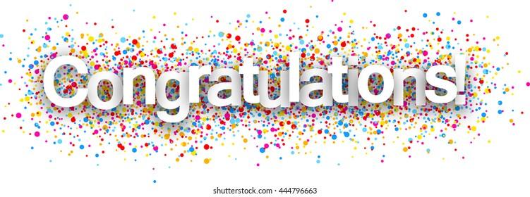 congratulations banner images stock photos vectors shutterstock