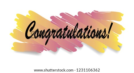 congratulations poster brush strokes on white stock vector royalty
