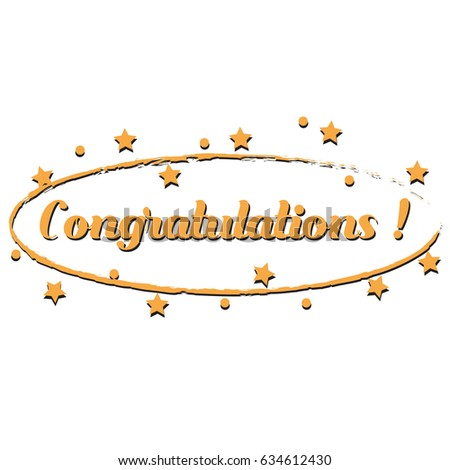 congratulations template card banner flyer gift stock vector