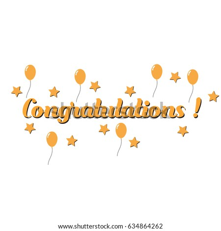 Congratulations Template For Card Banner Flyer Gift Certificate