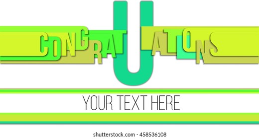 Congratulations text made modern design template . Vector design.