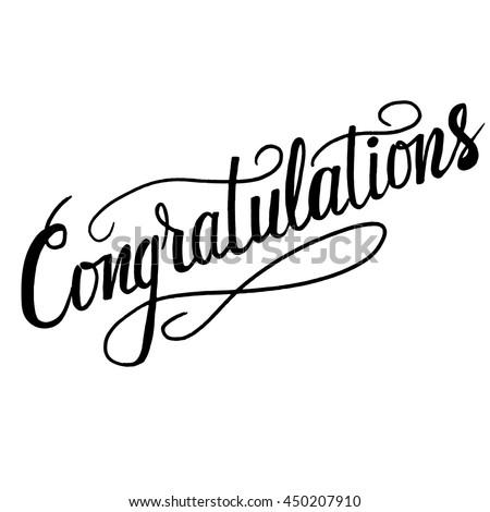 congratulationstexttemplate banner card vector illustration hand の