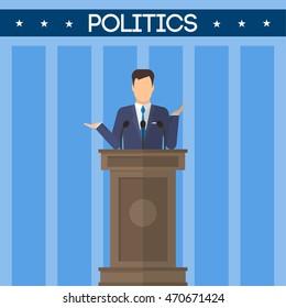 Congressman vector icon. Politics and elections topics.