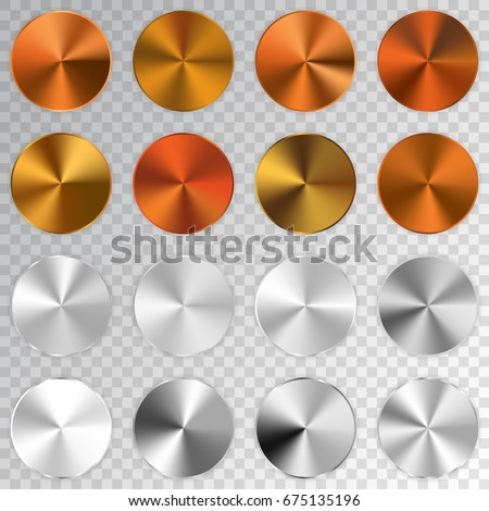 Conic metallic gradients set