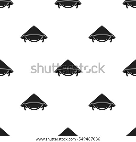 Conical hat icon in black style isolated on white background. Hats pattern  stock vector illustration 8dbcedbe3cd