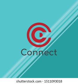 Connect And C Letter Logo Vector