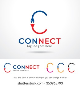 Connect Letter C Logo Template Design Vector