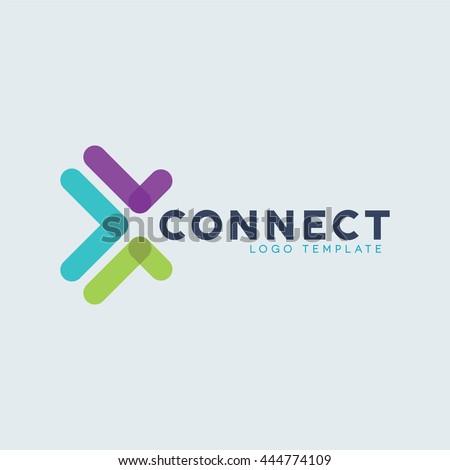 connect logo stock vector royalty free 444774109