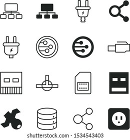 connect vector icon set such as: components, connected, router, software, diagram, rj45, telecommunication, lan, satellite, supply, tracking, center, modern, analysis, search, consumption, telephone