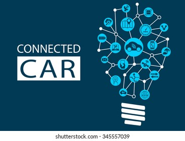 Connected car and autonomous driving concept. New technology for disruptive business models