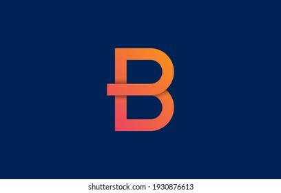 connected letter BD, DB, BP, PB logo design