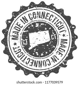 Connecticut Made In Map Travel Stamp Icon City Design Tourism Export Seal