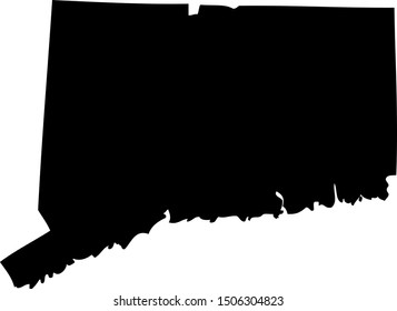 Connecticut - map state of USA