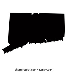 Connecticut map, vector illustration