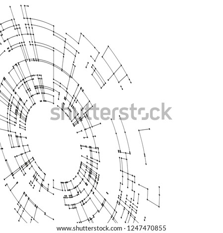Connecting Lines Dots On White Background Stock Vector Royalty Free