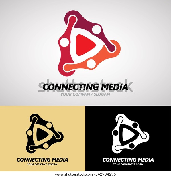 Connecting Media Logo Design Creative Business Stock Vector Royalty Free 542934295