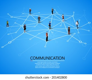 Connecting people. Social network concept. Vector