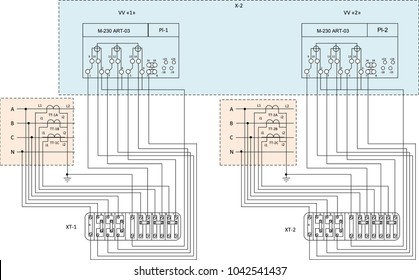 royalty free stock illustration of connection diagram electric meter Wind Farm Diagram Electric Meters connection diagram of the electric meter