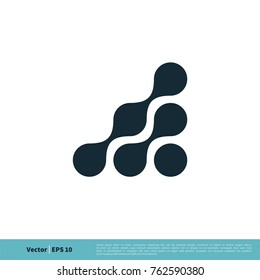 Connection Dots Icon Vector Logo Template Illustration Design. Vector EPS 10.