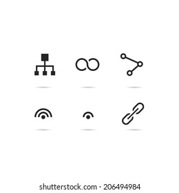 Connection icon set