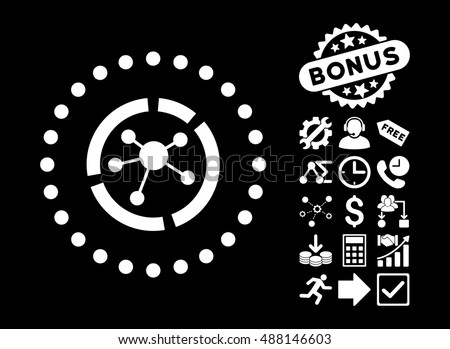 Connections Diagram Icon Bonus Images Vector Stock Vector Royalty