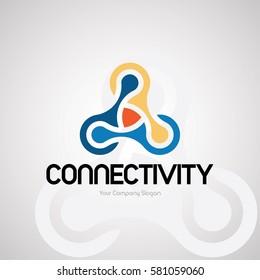 Connectivity Logo Design for Creative Business. Vector Logo Template.